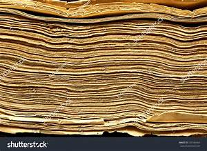 Antique Book Side View Texture Stock Photo 125166464 ...