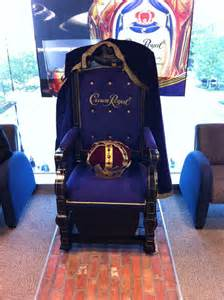 crown royal display chair crown royal throne images frompo