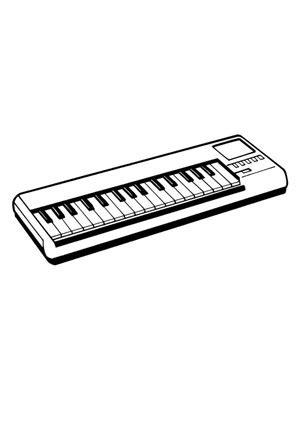 ausmalbilder keyboard spielsachen malvorlagen ausmalen