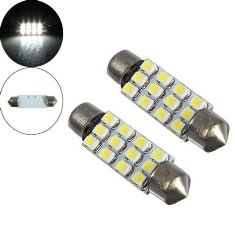2 x dome 12 3528 smd led bulb light interior festoon l