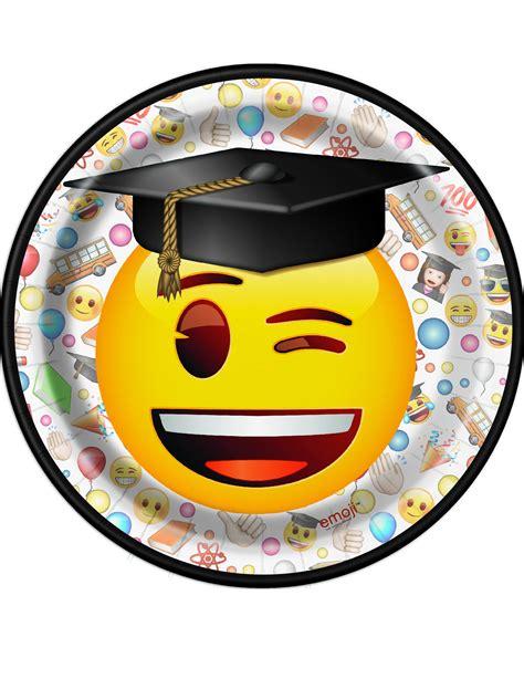 emoji pappteller party deko  stueck schwarz weiss bunt