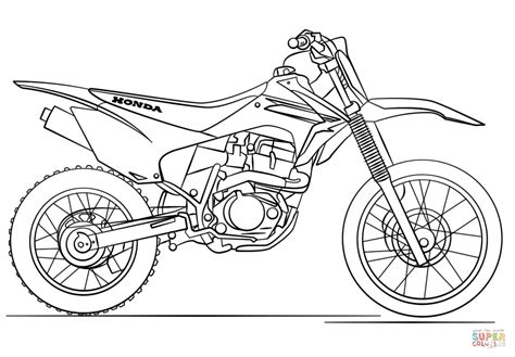 how to draw a motocross bike honda dirt bike coloring page free printable coloring pages