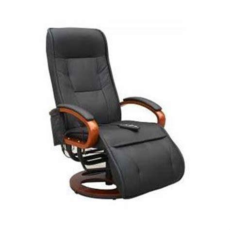 cfa cuisine fauteuil relax simili chauffant et électrique noir confort