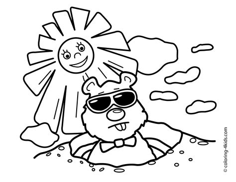 groundhog coloring pages printable coloring pages of groundhogs coloring home