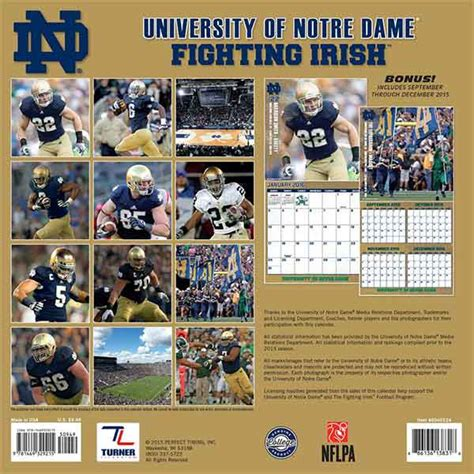christmas gifts for notre dame fans 2016 notre dame calendar gifts ideas notre dame fan store