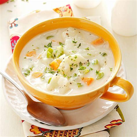 of potato soup hearty potato soup recipe taste of home