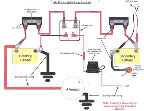 wiring in a split charge relay system landyzone land rover