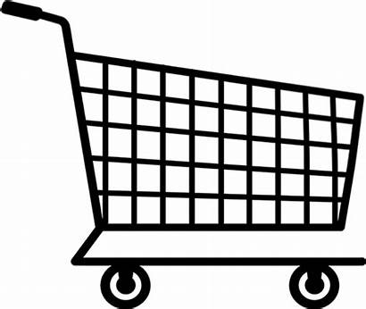 Grocery Shopping Cart Clipart Clip Walmart Coloring