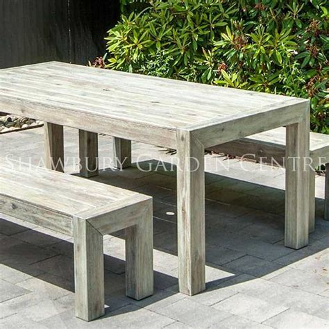 distressed acacia garden table