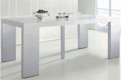 table de cuisine ronde avec rallonge table console extensible transformable blanche laqué