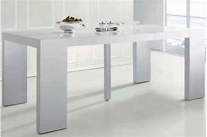 Table Blanc Laqué Extensible Ikea : console blanche rallonge ~ Nature-et-papiers.com Idées de Décoration
