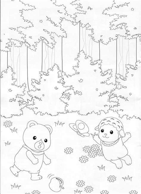 billedresultat  sylvanian families coloring pages