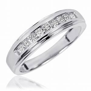 38 Carat TW Diamond His And Hers Wedding Band Set 10K