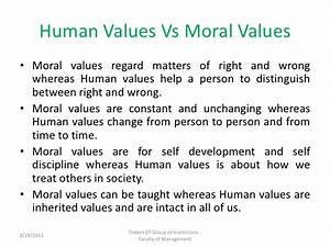 human values essay for students