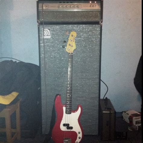 ampeg v4 head ampeg 8x10 cabinet and sunn mustang bass