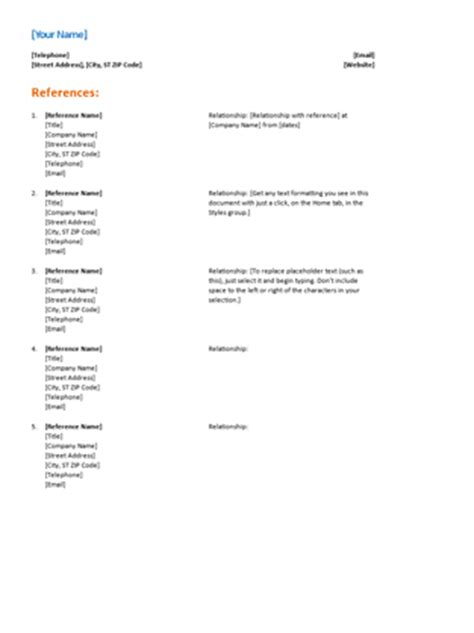 listing references for a resume reference list for resume functional design office templates
