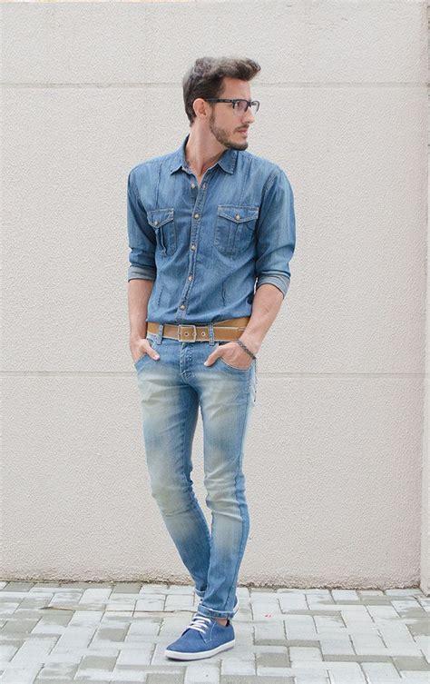 light blue dress shoes mens men 39 s blue denim shirt light blue skinny jeans blue