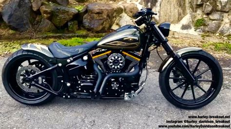harley davidson breakout custom harley davidson fxsb breakout custom exhaust sound from japan