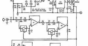 Diagram Circuit  Tunable Bandpass Filter Circuit Diagram