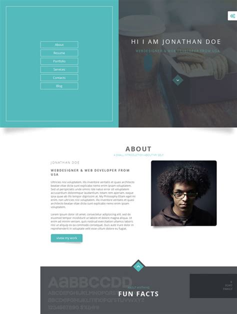 Portfolio Resume Website by 40 Best Personal Website Templates Free Premium