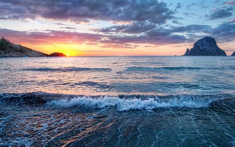 photography nature landscape coast water sea sunrise
