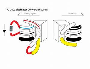 240z Alternator Upgrade  Instructions W   Pictures