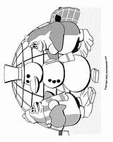Coloring Colouring Christmas Sheets Igloo Pages Printable Snowman Penguins sketch template