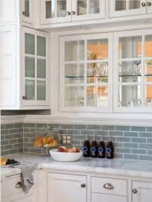 kitchen backsplash with white cabinets white cabinets with frosted glass blue subway tile backsplash from houzz com house