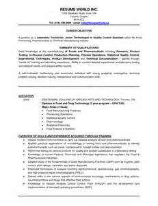 environmental lab chemist resume resume for a chemistry lab technician