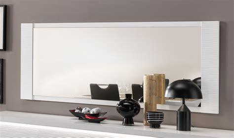 miroir de salle 224 manger rectangulaire laqu 233 blanc 150 cm roselia miroir autres meubles