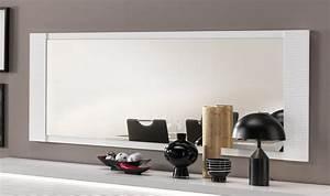 miroir de salle a manger rectangulaire laque blanc 150 cm With miroir de salle a manger rectangulaire