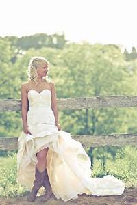Cowboy boots and wedding dress ashley pinterest for Wedding dresses with cowgirl boots