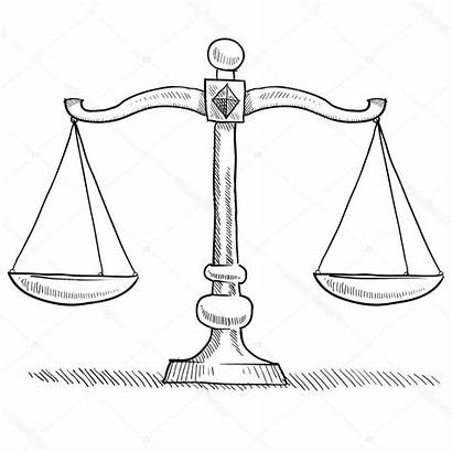 Scale Weighing Scales Justice Sketch Balance Drawing