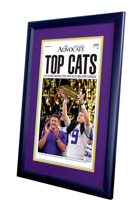 Framed & Ready To Hang The Advocate LSU 2020 NCAA Football ...