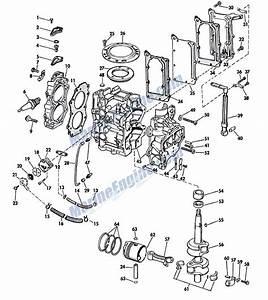 Johnson Powerhead Group Parts For 1967 6hp Cd
