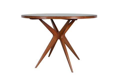 Italienischer Runder Tisch aus Grünglas, 1950er bei Pamono