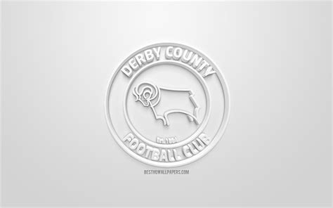 Download wallpapers Derby County FC, creative 3D logo ...
