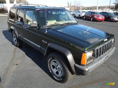 dark green jeep 1995 dark green jeep cherokee 4x4 74925470 gtcarlot com