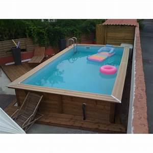 piscine bois linea ubbink 350 x 650m With jardin autour d une piscine 13 detail produit stock