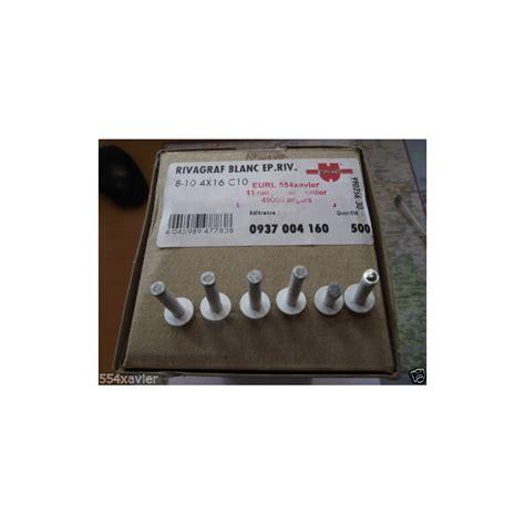 lot 6 rivets pop blanc pour plaque immatriculation 4x16