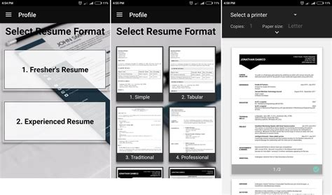 Free Resume Builder Pdf by Best Free Resume Builder Apps For Android Devices