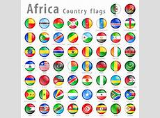 Vector African National Flag Button Set Stock Illustration