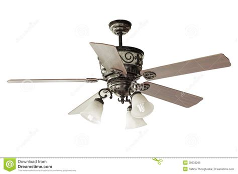 Wood Blades Ceiling Fan Royalty Free Stock Photo Image