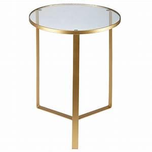 Table D Appoint Doré : bout de canap en verre et m tal dor mf pinterest bout de canap mobilier de salon y ~ Teatrodelosmanantiales.com Idées de Décoration