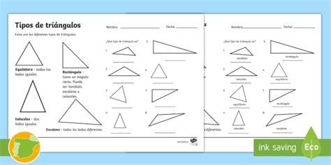 * New * Ficha De Actividad Tipos De Triángulo Geometría