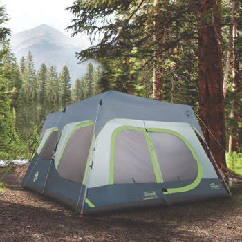 coleman 10 person instant cabin tent coleman instant 10 person cabin tent with rainfly 2 rooms