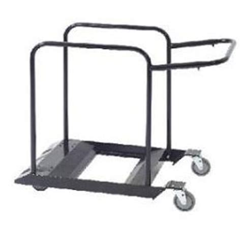 mity lite folding chair cart mity lite edge cart for folding tables 53 1 4 quot w
