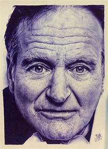 Ballpoint pen drawing of Robin Williams by chaseroflight ...