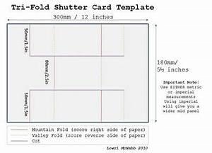 tri fold shutter card template