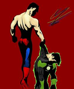 Superman v.s. Green Lantern Ion by coolguyzane on DeviantArt